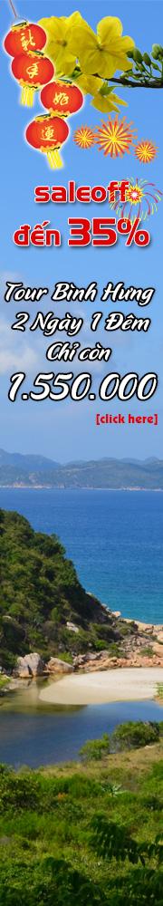 Tour Bình Hưng 2 Ngày 1 Đêm Chỉ còn 1750000