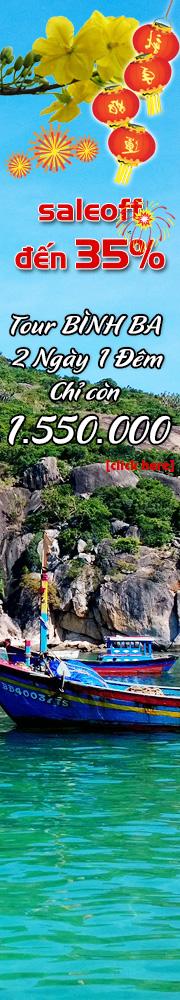 Tour Bình Ba 2 Ngày 1 Đêm Chỉ còn 1750000